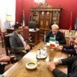 Incontro con ambasciatore del Sudafrica in Italia
