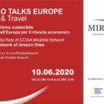 """""""Unesco Talks Europe – Cultura e Turismo sostenibile, la risposta dell'Europa per il rilancio economico"""""""